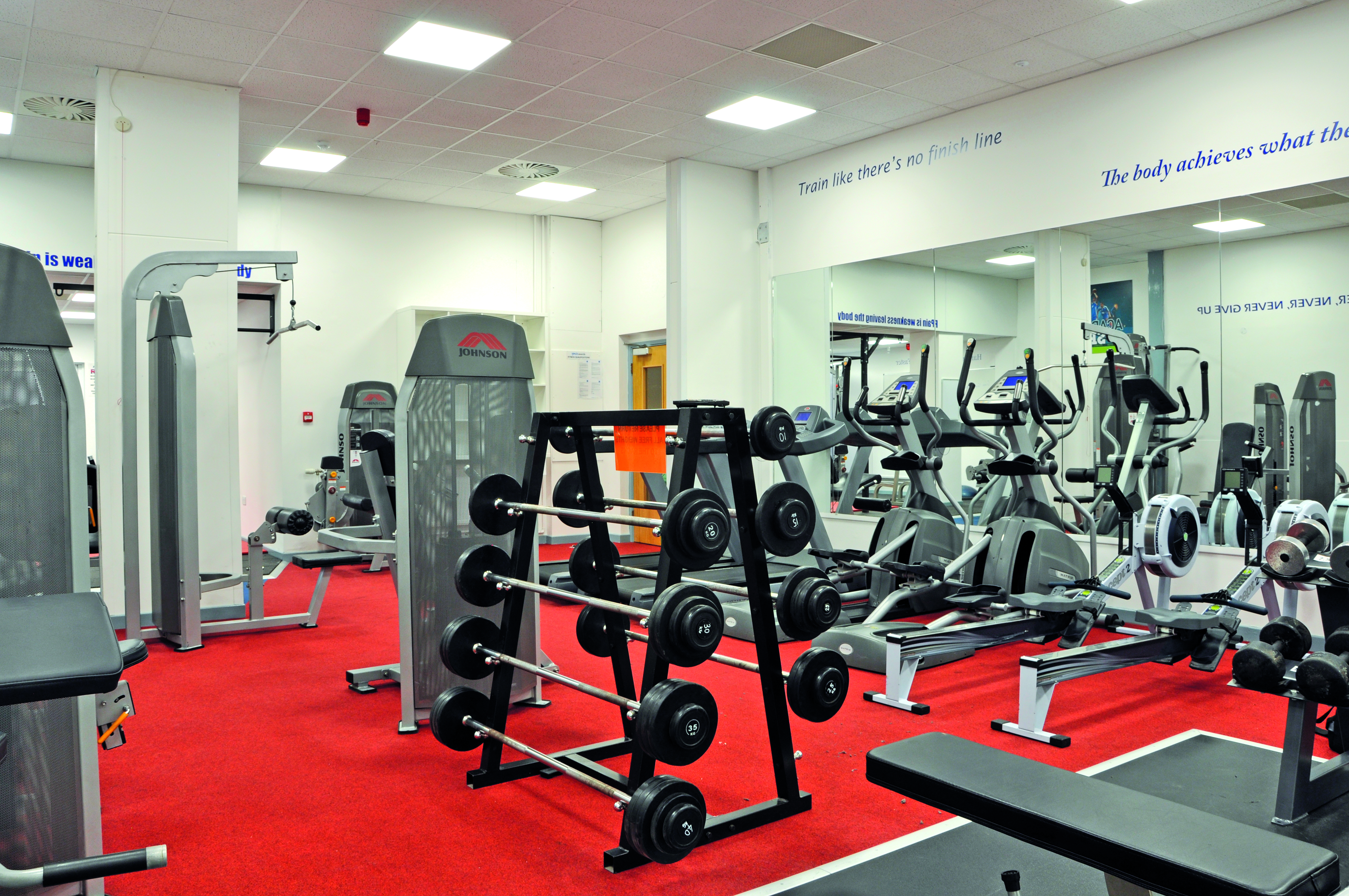 Fitness suite, climbing wall, full-size football pitches and netball courts